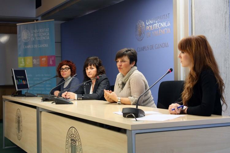 Romina del Rey, Ana María Amat, María José Viñals y Sandra Martorell