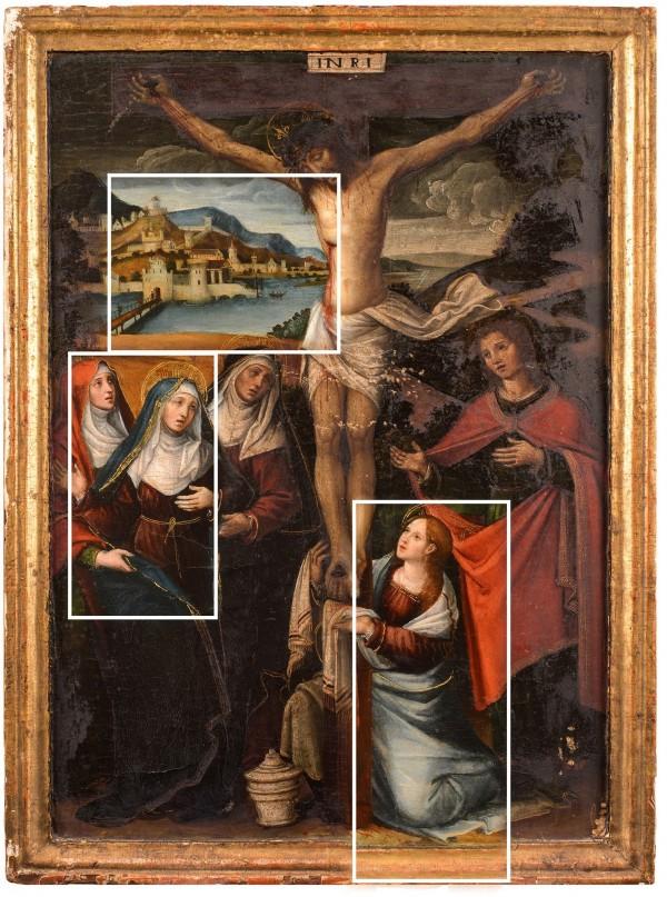 Detalles restauración pintura Joan de Joanes